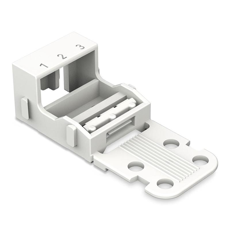 Wago 221-503 Mounting Carrier - 3-Conductor Terminal Block from Wago for $2.21