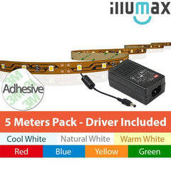 DIY Package! LED Strip 5Metre 300LEDs (60LED/m) 12V - With Highly Reliable MEAN WELL Power Supply from iLLUMAX for $63.99