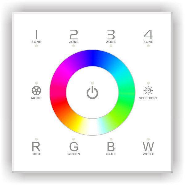 DX8 Multi-Zone LED Colour Controller - Glass Panel, RGBW, AC from LTECH for $125.49