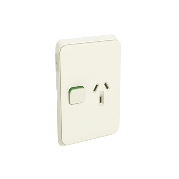 PDL Iconic 1 Vertical Switched Socket -AC - 10A - Warm Grey from PDL for $13.99