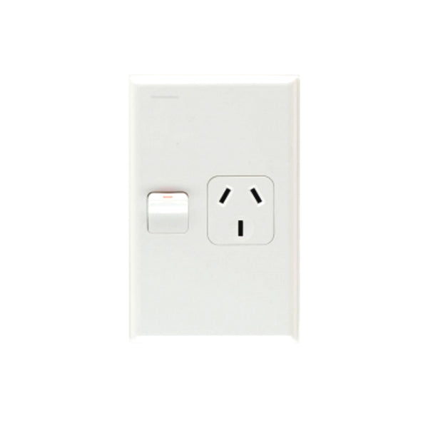 PDL 691 1 Vertical Switched Socket -AC - 10A - White from PDL for $24.99