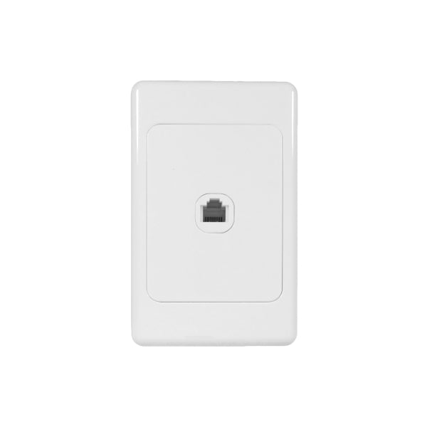 Classic Telephone (RJ11) Outlet - White from Generic Brand for $3.99