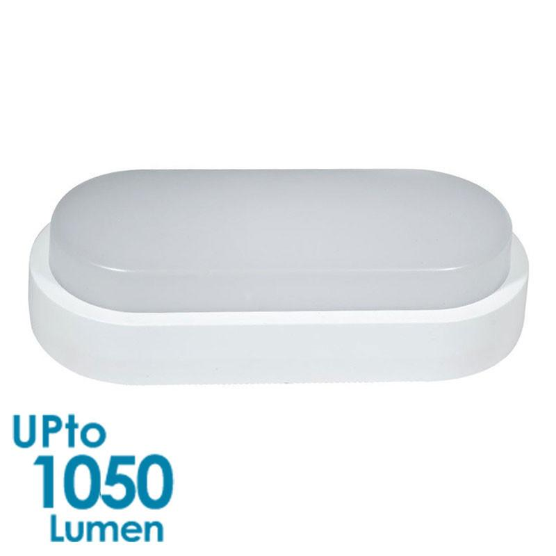 GEO LED 12W Wall Light Exterior Bulkhead - Double Insulated - IP65 - White Body from Eurotech Lighting for $33.99