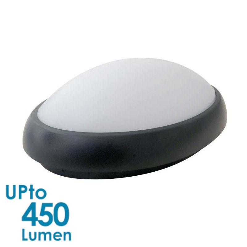 Eurotech Lighting 8W LED Exterior Bulkhead - IP65 - Charcoal Body