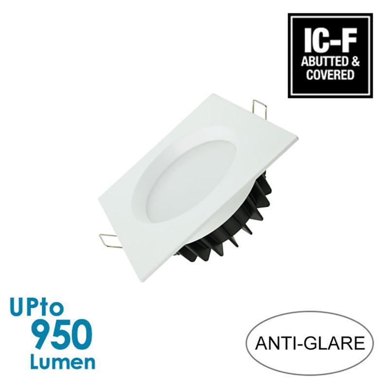 LEDFocus 12W LED Downlight - White Square - IP44 - Dimmable - Anti-glare from LEDFocus for $22.99