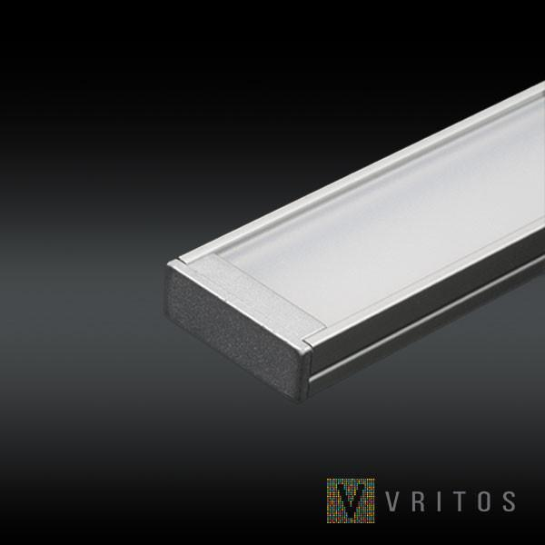 VRITOS LAXUS LED Extrusion 2M - Flat Wide from VRITOS for $91.08