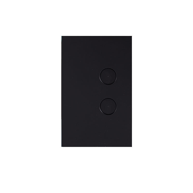 PDL Saturn Zen 2 Gang Push Switch with LED - Black from PDL for $87.99