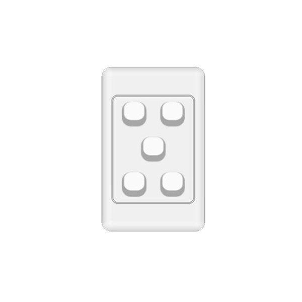 Classic 5 Gang Switch - White - AC - 10A from Generic Brand for $12.99