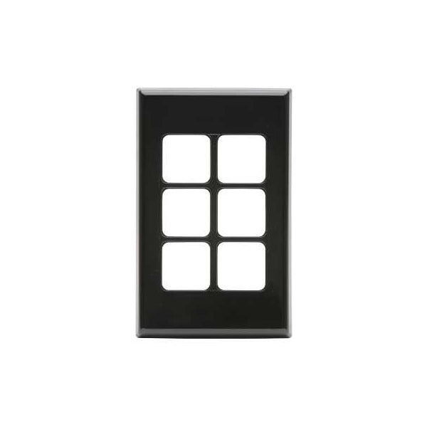 PDL 686VH, 6 Gang Grid - Cover Plate Only - Black from PDL for $9.99