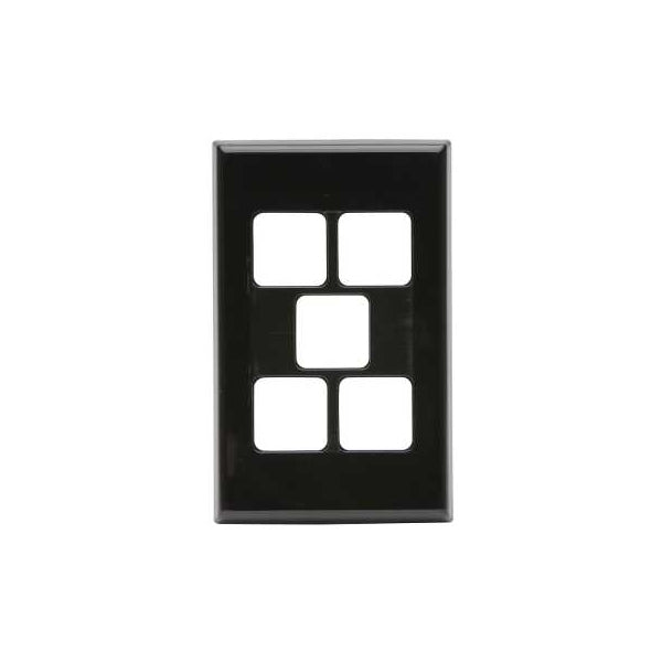 PDL 685VH, 5 Gang Grid - Cover Plate Only - Black from PDL for $9.99