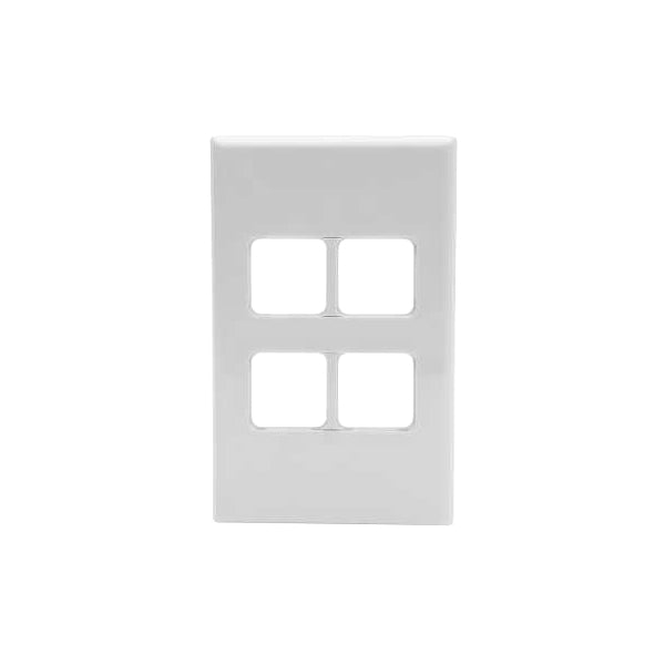 PDL 684VH, 4 Gang Grid - Cover Plate Only - White from PDL for $9.99