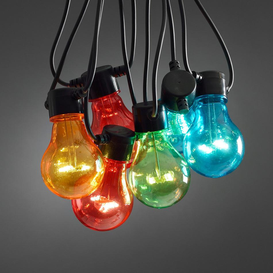 LED Vintage Clear RGB Festoon Light - 10Bulbs/5m - Extendable up to 15m - Indoor Only from Generic Brand for $89.99