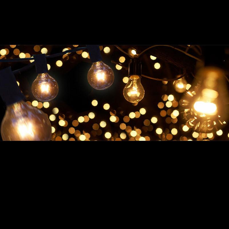 Indoor String Lights Nz : LED Vintage Clear Festoon Light - 10Bulbs/5m - Extendable up to 15m