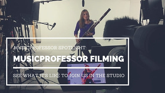 MusicProfessor: Lesson Filming Process