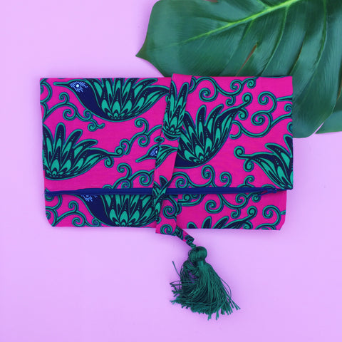 Le Gendre - Pink and Green Clutch