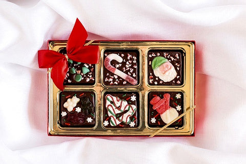 Chocolate Squares Christmas Topping Variety Pack