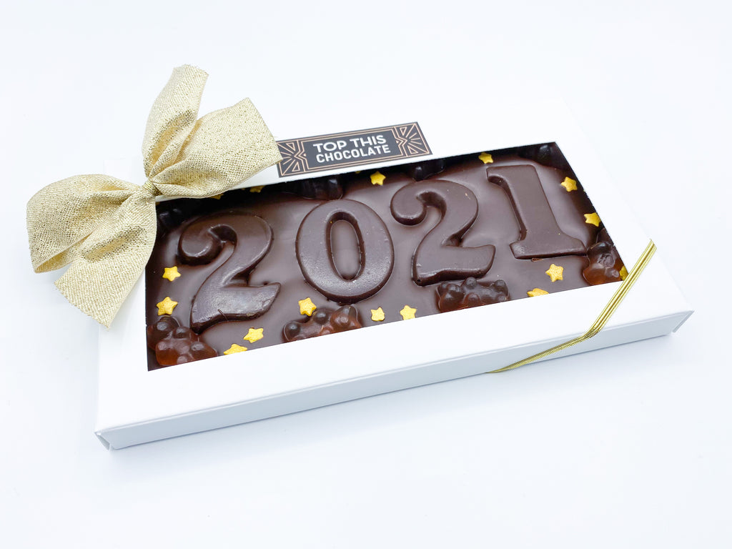 2021 Chocolate Bar with Champagne Gummy Bears