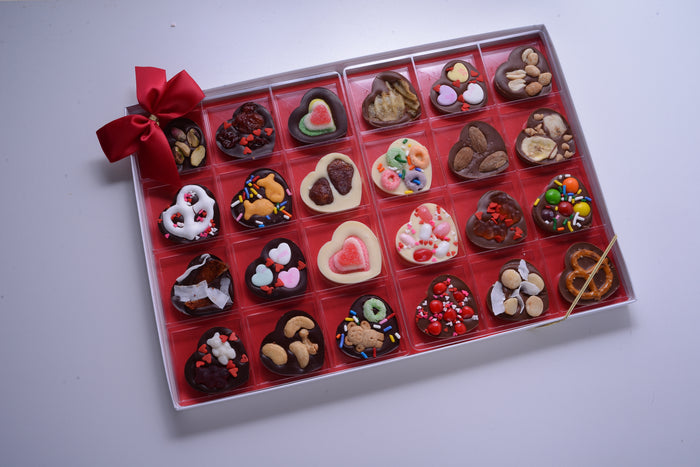 Chocolate Hearts Variety Pack - All Toppings