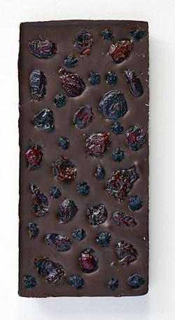 Blueberry Cranberry Cherry Dark Chocolate Bar