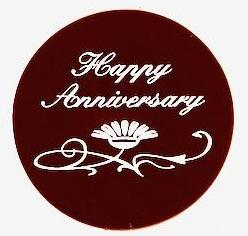 Anniversary Dark Chocolate Plaque