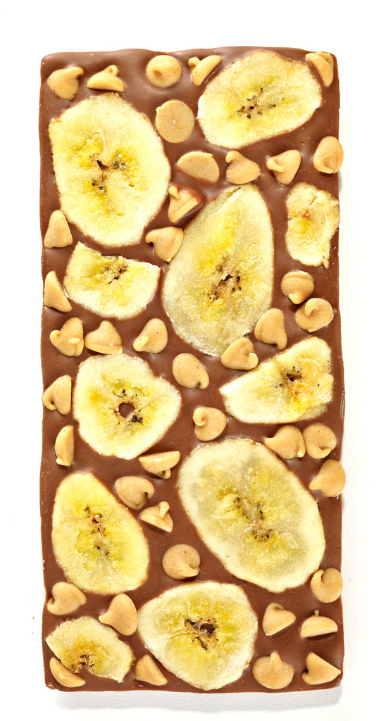 Banana Peanut Butter Chip Chocolate Bar