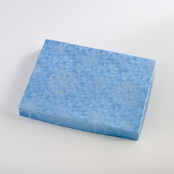 Blue Snowflake Box of 24 Squares