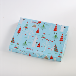Blue Christmas Tree Box of 24 Squares