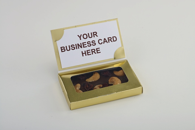 Chocolate Business Card in Gold Box