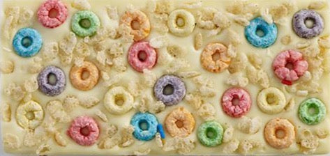 White Chocolate Bar with Froot Loops and Rice Krispies