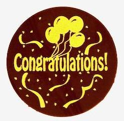 Congratulations Dark Chocolate Plaque