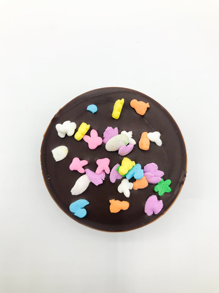 Chocolate Covered Oreo with Easter Sprinkles