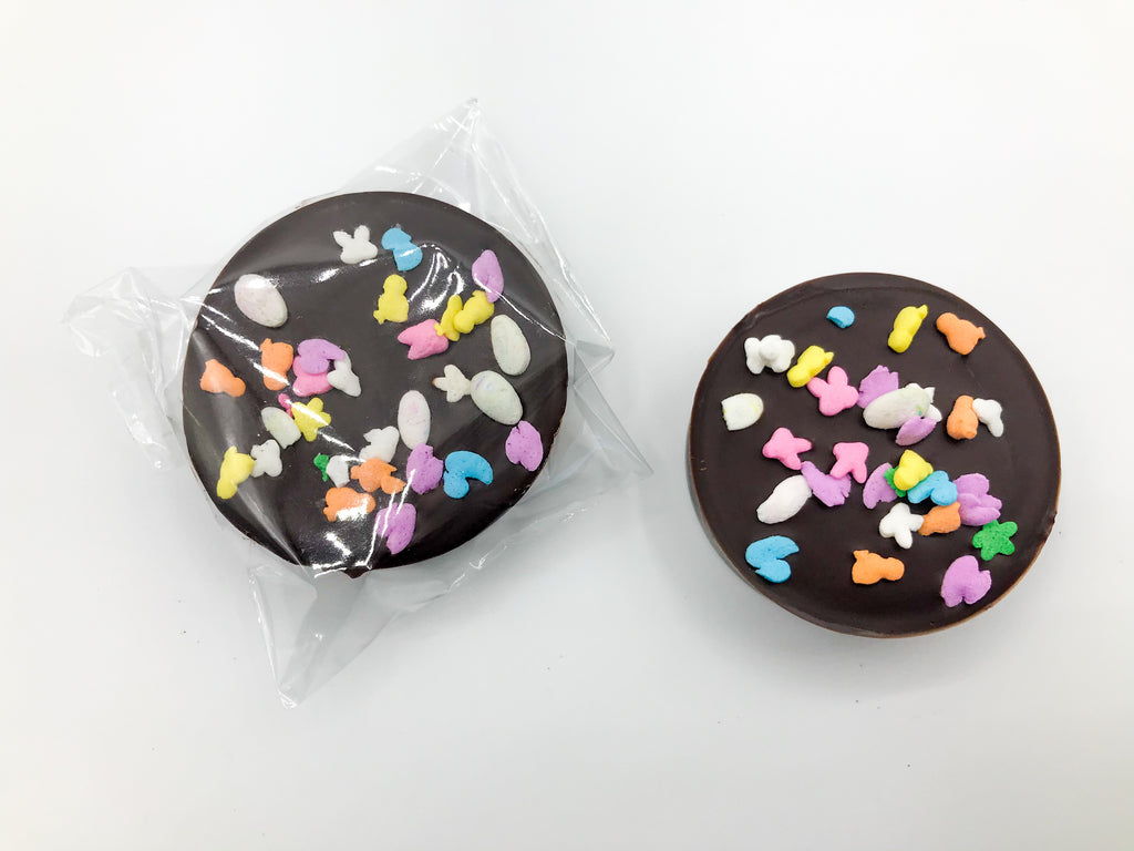 Chocolate Covered Oreos with Easter Sprinkles