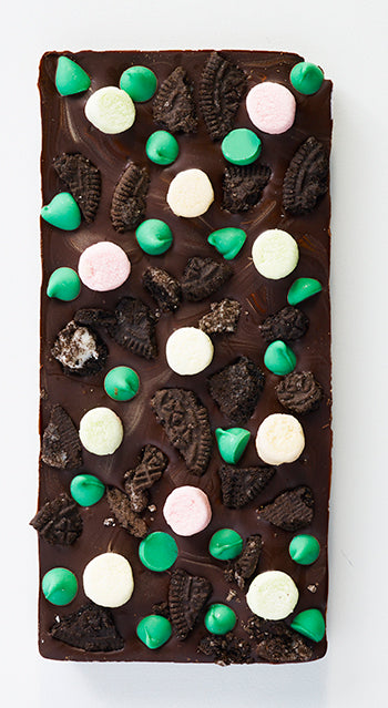 Marshmallow Mint Chip Oreo Cookie Chocolate Bar