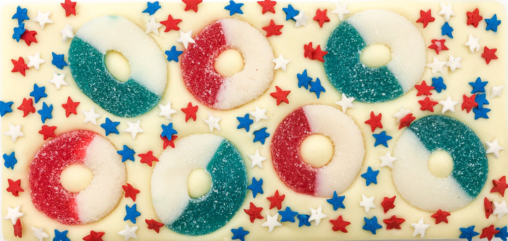 Summer Gummy Ring Chocolate Bar with Star Sprinkles