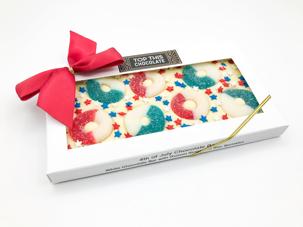 Summer Gummy Ring Chocolate Bar with Bow