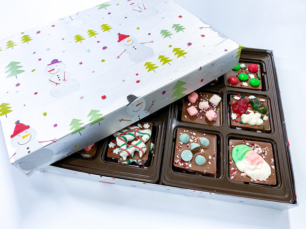 Holiday Topping Variety Chocolate Squares
