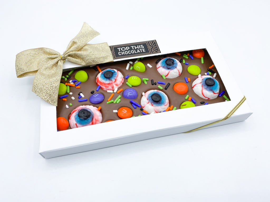 M&M Eyeball Chocolate Bar with Bow