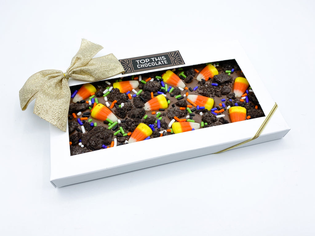 Candy Corn Oreo Chocolate Bar with Bow