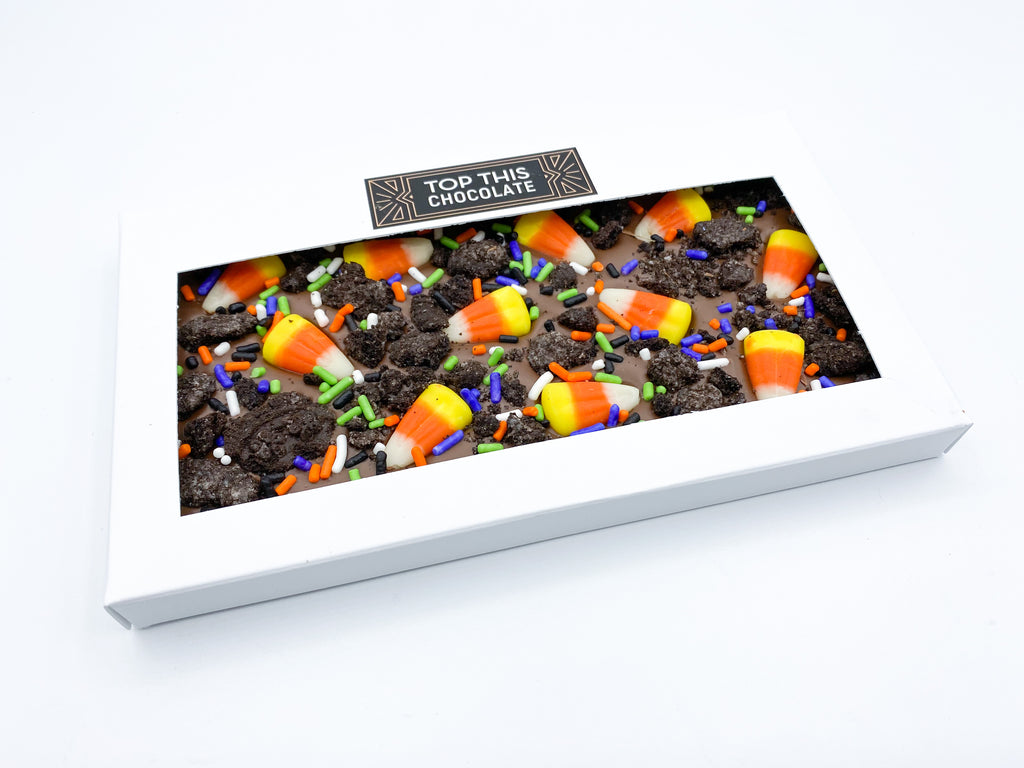 Candy Corn Oreo Chocolate Bar