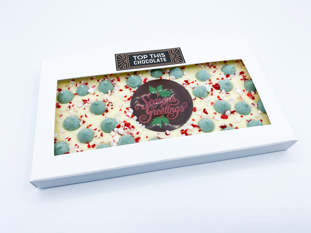Season's Greetings Mint Chip & Candy Cane Chocolate Bar