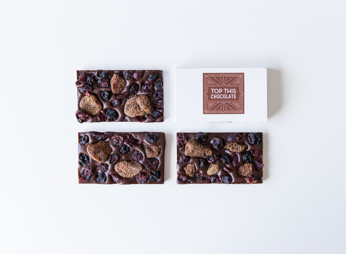 Mini Chocolate Bars with Dried Berries