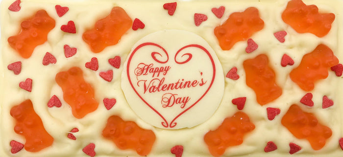 Happy Valentine's Day Plaque Chocolate Bar
