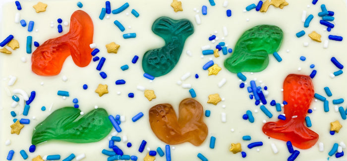 Mermaid Tail Gummy Chocolate Bar