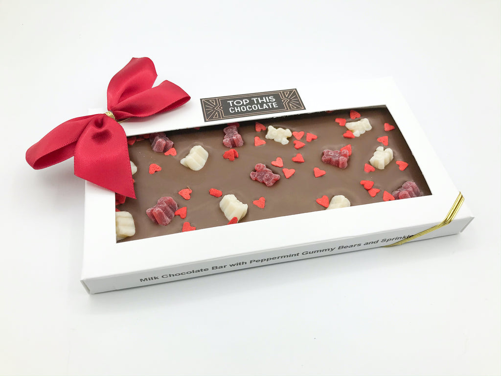 Mini Gummy Bear Valentine's Chocolate Bar