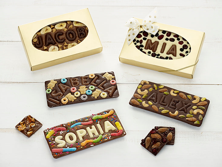 Holiday Chocolate Bar With Name