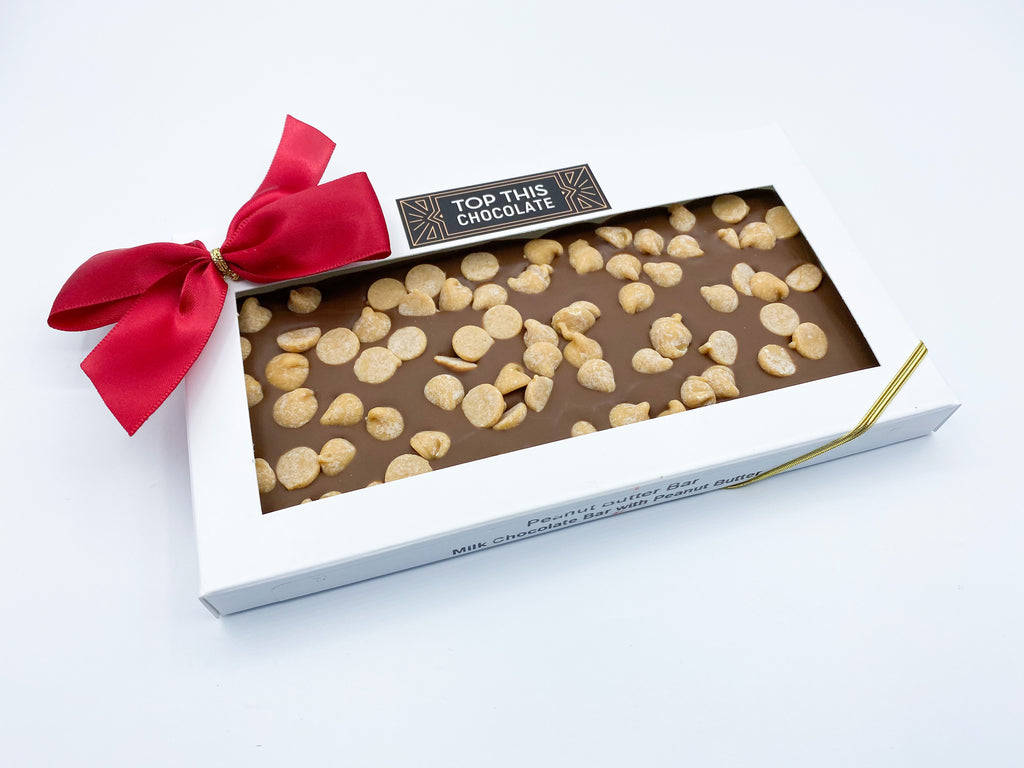 Peanut Butter Chocolate Bar with Bow
