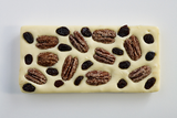 White Chocolate Bar with Candied Pecans and Raisins