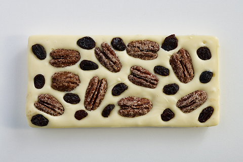 Pecan Raisin Chocolate Bar
