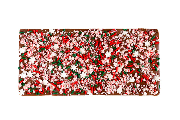Christmas Sprinkles & Crushed Peppermint Chocolate Bar