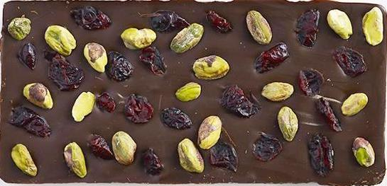 Pistachio Cranberry Dark Chocolate Bar